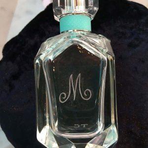 Tiffany perfume engraving