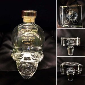 decanters and alcohol bottles