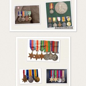 mounted war medals