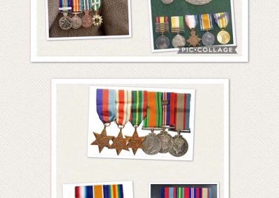 mounted war medals